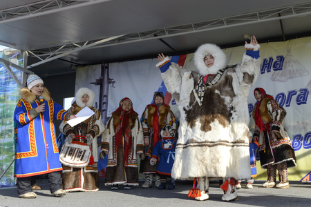 Day of the reindeer herders in the Yamal Peninsula, Nenets national holiday Editorial
