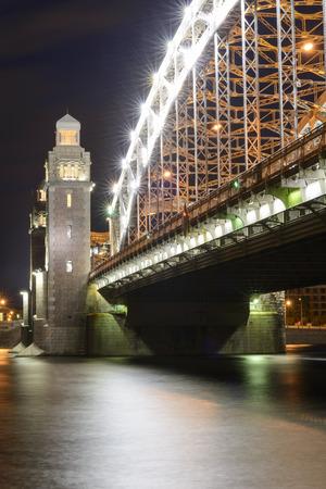 st  petersburg: Bolsheokhtinsky bridge in St. Petersburg Stock Photo
