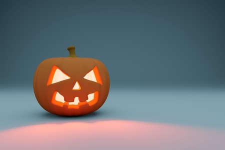 Halloween.Happy Halloween.Jack - o '- lantern Studio rendering.Copy space.3D rendering.