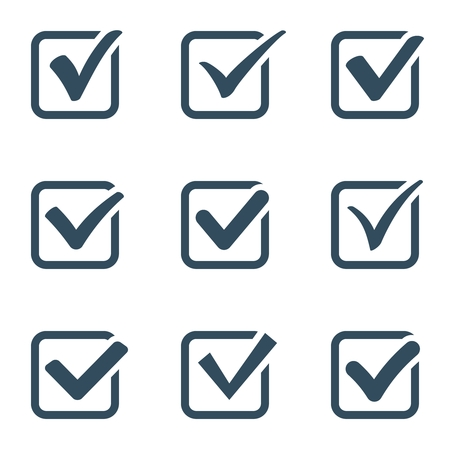 Checkmark icon set | Vector black confirm icons set Illustration