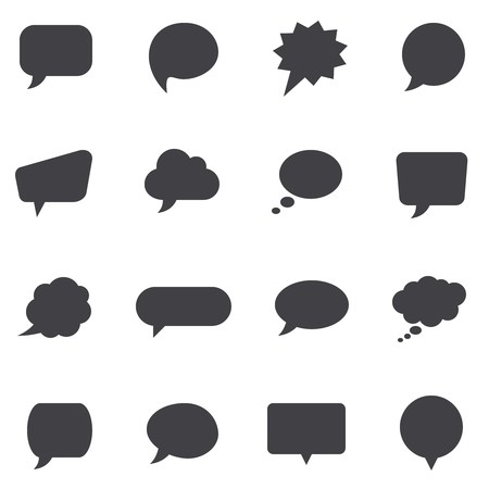 Vector speech bubbles and dialog balloons icons