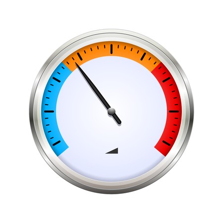 Temperature gauge | Vector dashboard illustration isolated on white