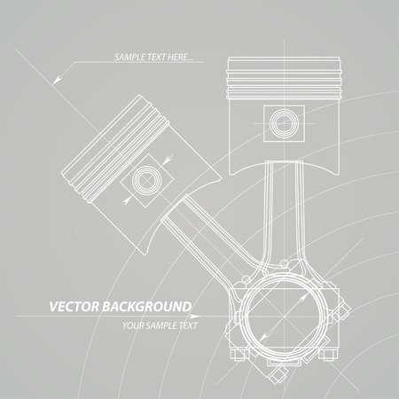 turning operation: Abstract technical background. Illustration