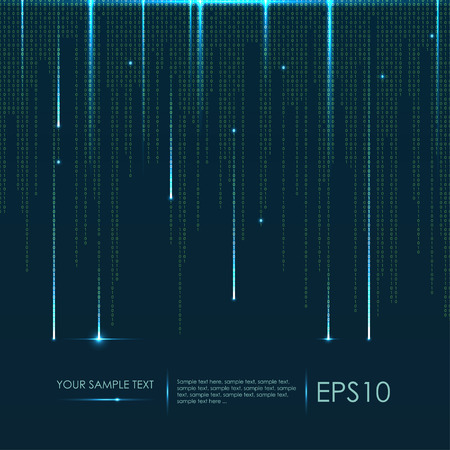 Abstract technology background. Vector binary code Ilustrace