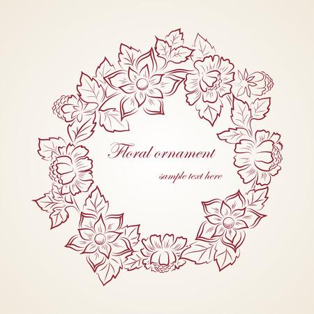 Element floral ornament