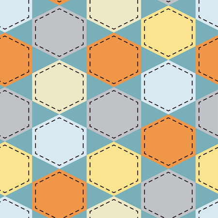 Textile seamless hexagons background
