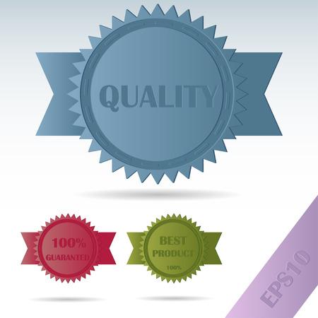 Set label quality Ilustracja