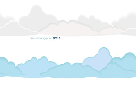 Vector seamless pattern of clouds Ilustracja