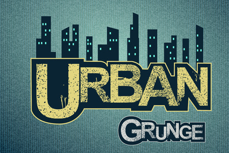 Urban background on grange texture Ilustracja