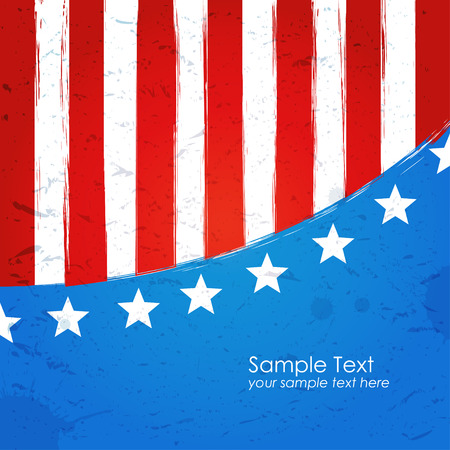 American grungy background Vector
