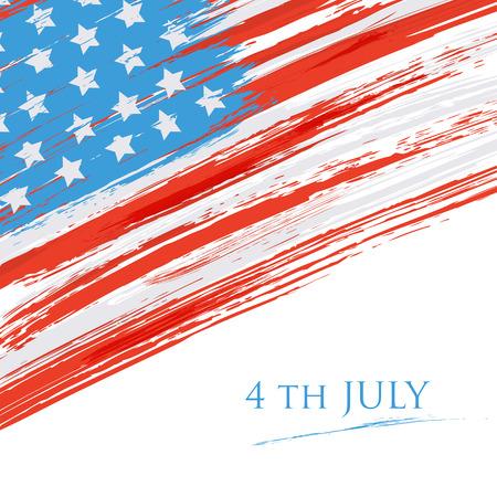 アメリカ (アメリカ合衆国) の旗。グランジ背景