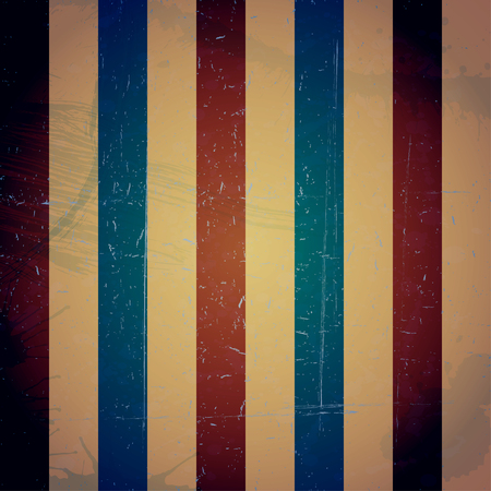 Colored striped vintage texture. Grunge retro background