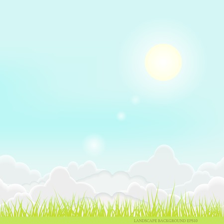 idyllic: Sunny landscape nature sky art  idyllic background