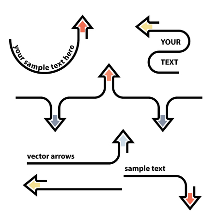 Vector set graphic label busines of arrows
