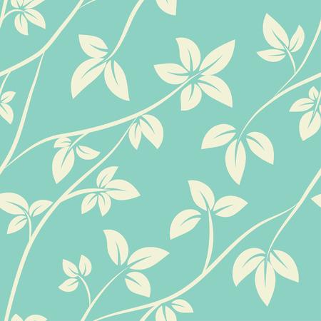 Vector vintage seamless floral pattern nature background Ilustracja