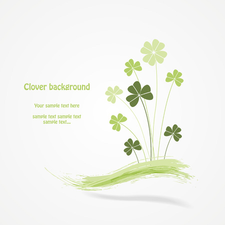 Abstract clover vector illustration. Vector eps10 illustration