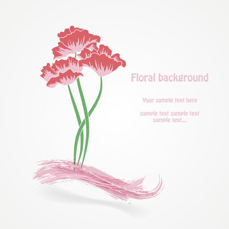Abstract floral vector illustration. Vector eps10 illustration