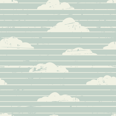 Abstract retro striped background with clouds texture