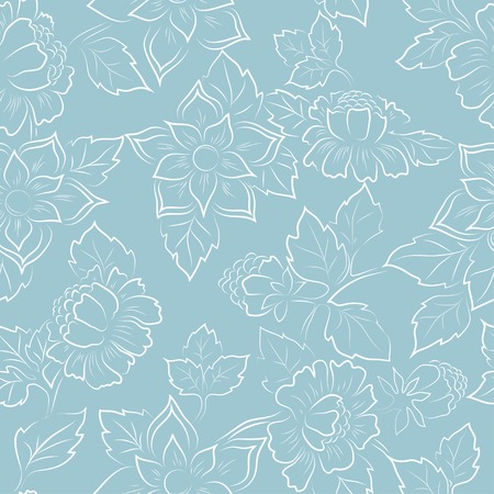 Abstract seamless floral pattern fabric vector background Ilustracja
