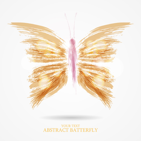 Abstract vector art flight bright butterfly background