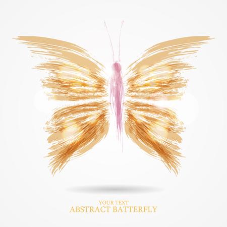 abstrakte muster: Abstrakte Vektor-Kunst-Flug hell Schmetterling Hintergrund