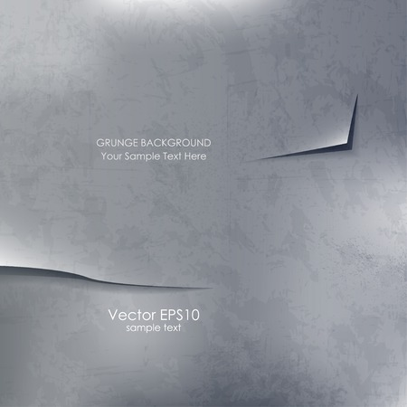 Abstract vector grunge gray background with torn edges