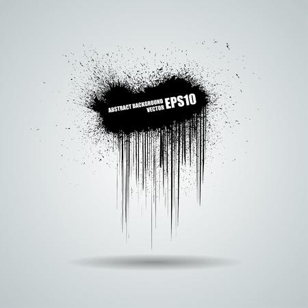 grunge banner: Abstract grunge texture background. Vector black banner