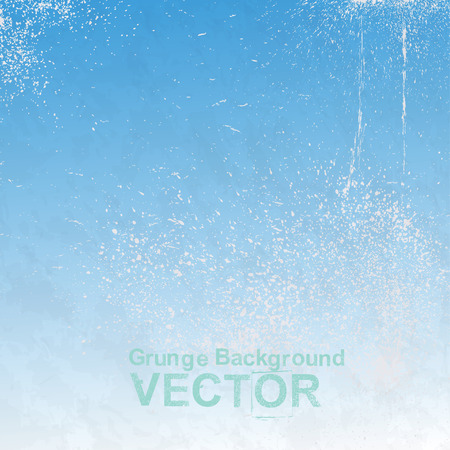 Grunge blue paper texture. Vector retro vintage background Ilustracja