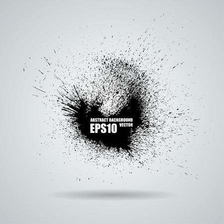 Vector black banner with ink splashes background Zdjęcie Seryjne - 54512166
