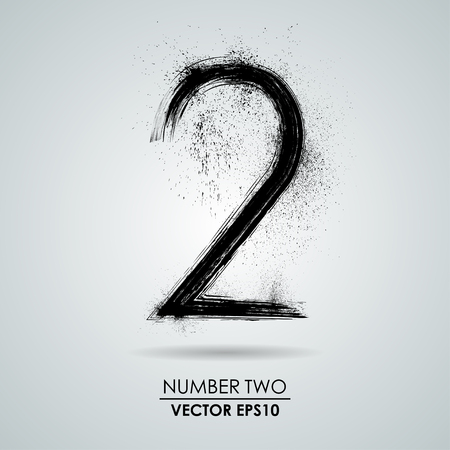 Vector grunge number - two. Element modern design