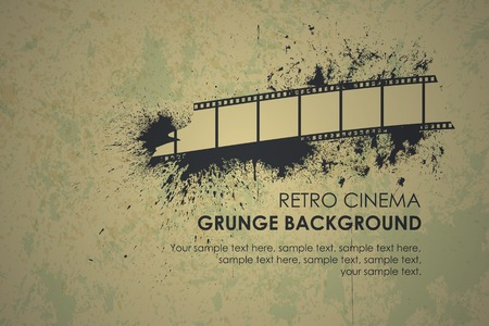Abstract grunge retro background. Torn film texture