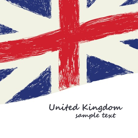 British flag grunge art illustration vector background Ilustracja