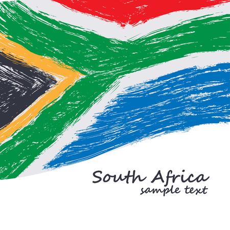arte africano: bandera de Sudáfrica. Vector del grunge textura de fondo