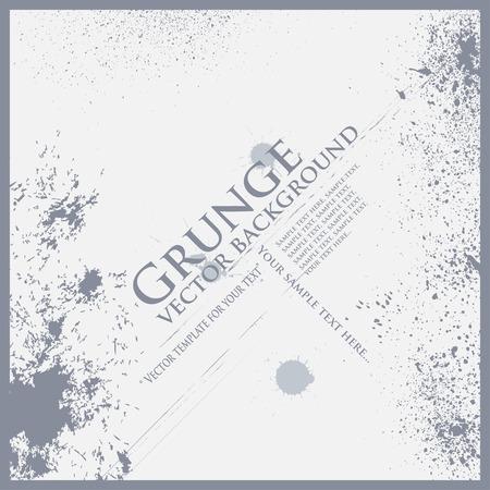 Vector grunge frame background art text texture