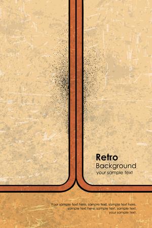 retro grunge: Vector yellow design grunge texture retro background