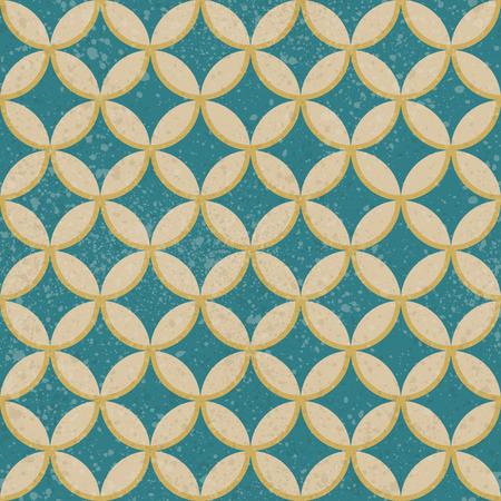 Vector seamless retro background.  Grunge pattern texture