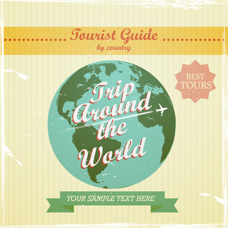 Vintage Design - travel guide to the world background Zdjęcie Seryjne - 54647404