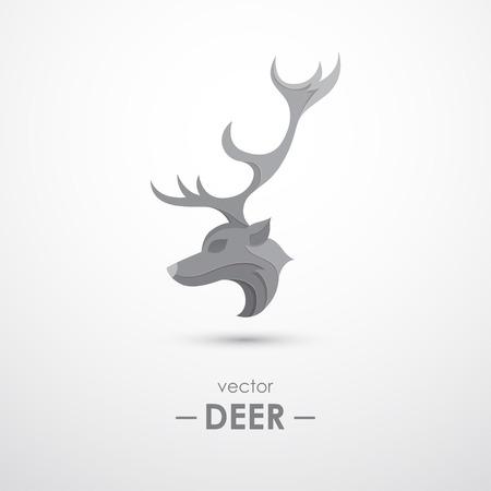 Abstract modern design of deer logo vector