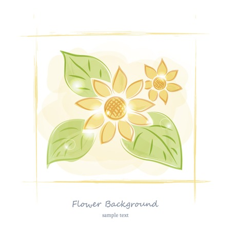 Floral watercolor drawing art design vector background