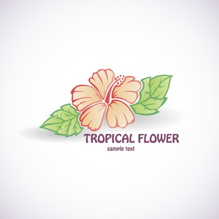 Hibiscus flower vector symbol tattoo icon background