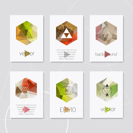 Abstract geometric icon hipster card design
