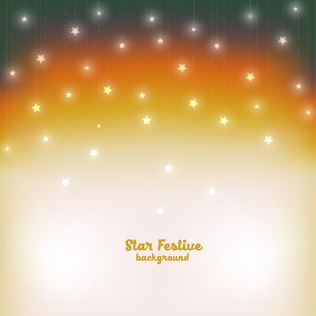 Vector illustration evening festive star background
