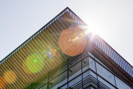 Details of aluminum facade and aluminum panels