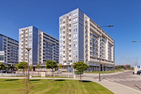 Nieuwe complex van residentiële gebouwen Stockfoto - 36443819