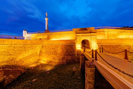 Belgrade fortress and Kalemegdan park, Belgrade Serbia  Stock Photo