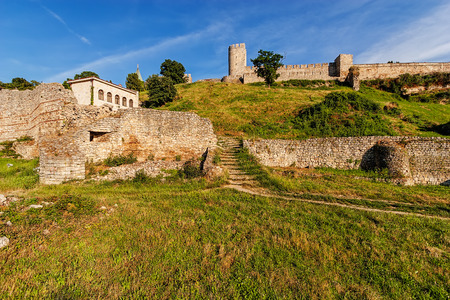 Belgrade fortress and Kalemegdan park with dramatic clouds