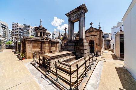 La Recoleta Cemetery  located in the Recoleta neighbourhood of Buenos Aires, Argentina. Stock Photo