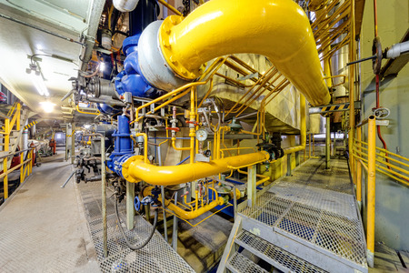 amoniaco: chemical industry plant with pipes and valves.