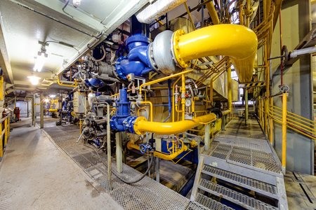 chemical industry plant with pipes and valves.
