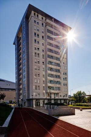 Complex van nieuw gemaakte woongebouwen, Servië Stockfoto